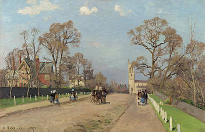 Streetscape Painting - The Avenue, Sydenham by Camille Pissarro