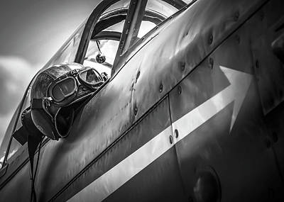 Photograph - The Aviator - Bw Series by Eric Miller