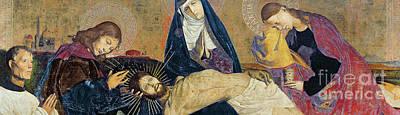 Tear Painting - The Avignon Pieta by Enguerrand Quarton