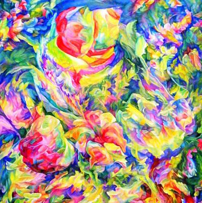 Intertwining Painting - The Awakening 2 by Maya Bukhina