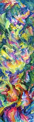 Intertwining Painting -  Awakening 5 by Maya Bukhina