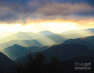 Food And Flowers Still Life - The Awakening smokey mountain views by Johnnie Stanfield