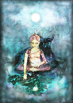 Gaia Mixed Media - The Awakening by Tone Plassen