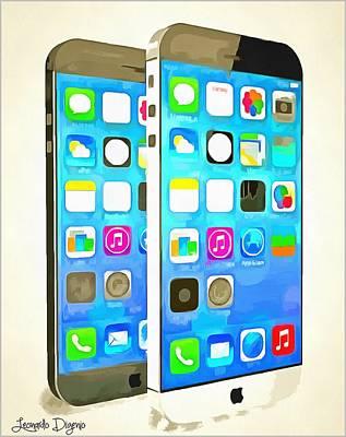 Job Digital Art - The Awesome Iphone 6 - Da by Leonardo Digenio