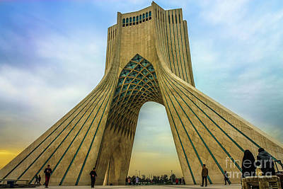Meshed Photograph - The Azadi Tower by Mao Lopez