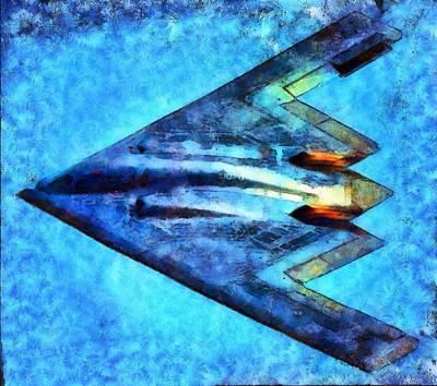 Fauvist Style Painting - The B-53bomber by Mario Carini