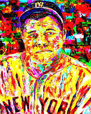 Babe Ruth Painting - The Babe by Mike OBrien
