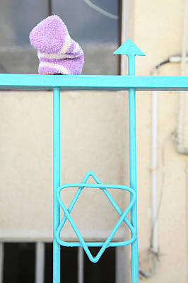 Magen David Photograph - A Gate In Tzfat by Yoel Koskas