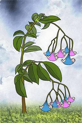 Digital Art - The Baby Tree by John Haldane