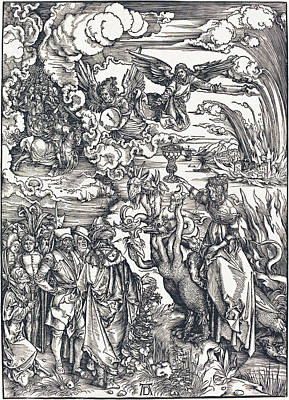 Drawing - The Babylonian Whore by Albrecht Durer