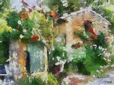 Provence Painting - The Back Door by Dragica  Micki Fortuna