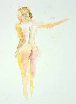 Painting - The back of the Nude by Rachel Rose