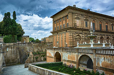 Photograph - The Back Of The Pitti Palace In Florence by Fine Art Photography Prints By Eduardo Accorinti