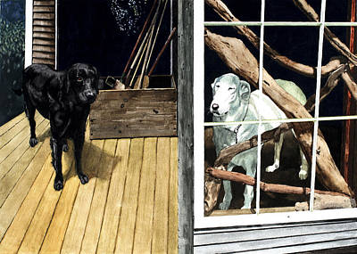The Back Porch Art Print by Perry Woodfin