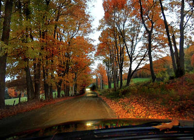 Photograph - The Back Road Ride In Autumn Dusk by Nancy Griswold