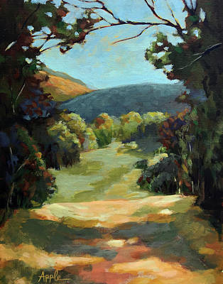 Painting - The Backroads - Original Oil On Canvas Summer Landscape  by Linda Apple