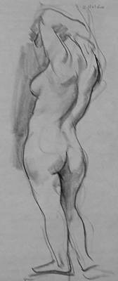 Drawing - The Backstretch by Robert Holden