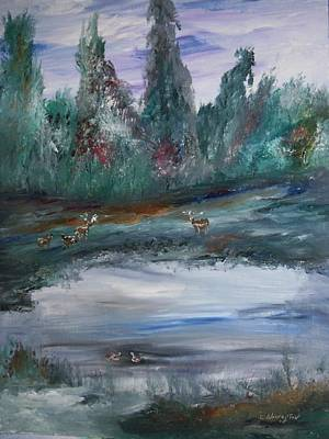The Backwaters Pond Art Print by Edward Wolverton