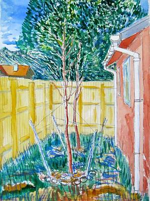 Painting - The Backyard In Boulder by Clarence Major