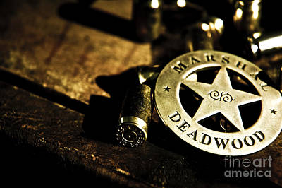 Deadwood Photograph - The Badge Of Deadwood by Micah May