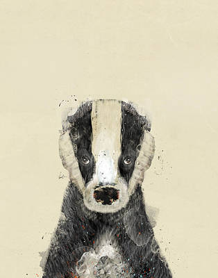 Painting - The Badger by Bleu Bri