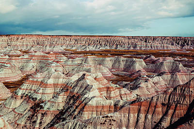 Terrain Photograph - The Badlands Of South Dakota I by Tom Mc Nemar