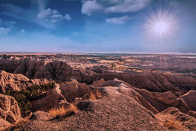 The Badlands Of South Dakota II Art Print by Tom Mc Nemar