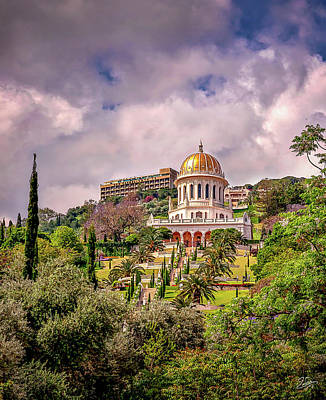 Photograph - The Baha'i Temple by Endre Balogh