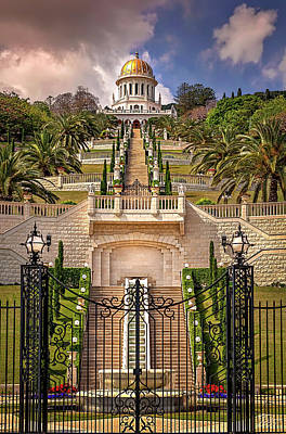 Photograph - The Baha'i Temple In Haifa by Endre Balogh