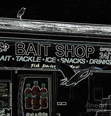 Photograph - The Bait Shop by Donna Brown