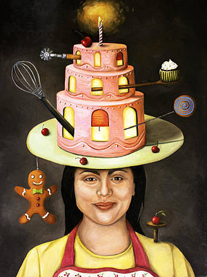 The Baker Art Print by Leah Saulnier The Painting Maniac