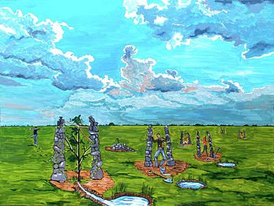 Painting - The Balance Of Sorrows by Lazaro Hurtado
