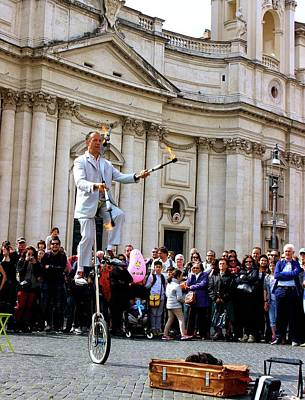 Photograph - The Balancing Act Rome by Janice Aponte