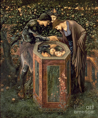 Reflecting Water Painting - The Baleful Head by Sir Edward Burne-Jones