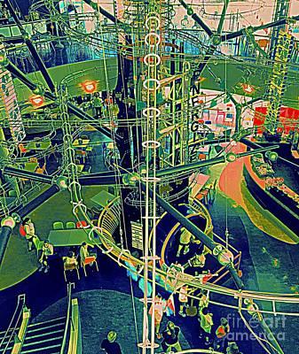 Digital Art - The Ball Machine 2 by Nancy Kane Chapman