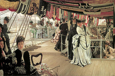 The Ball On Shipboard Art Print by James Tissot