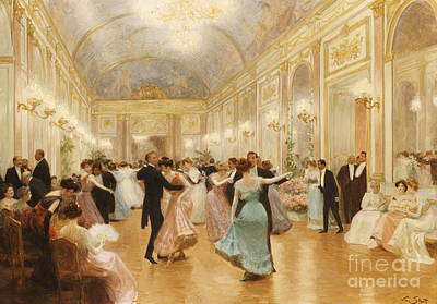 Waltz Painting - The Ball by Victor Gabriel Gilbert