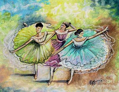 Painting - The Ballerina Dancers by Elizabeth Robinette Tyndall