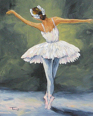 Swan Lake Painting - The Ballerina II   by Torrie Smiley