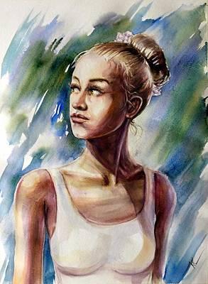 Painting - The Ballerina by Katerina Kovatcheva