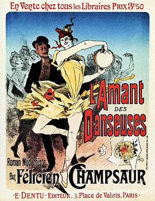 Belle Epoque Digital Art - The Ballerina Lover 1888 Paris by Aapshop