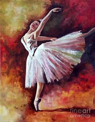 Painting - The Dancer Tilting - Adaptation Of Degas Artwork by Rosario Piazza
