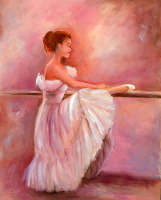 The Ballerina Art Print by Sally Seago