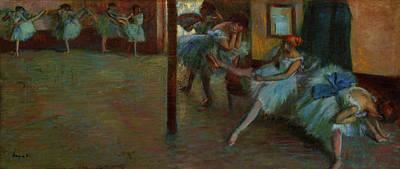 Painting - The Ballet Rehearsal by Edgar Degas