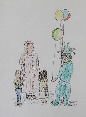 Fanciful Painting - The Balloon Salesman by Danny Lowe