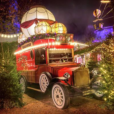 Square Image Photograph - The Balloon Seller Tivoli Gardens Copenhagen  by Carol Japp