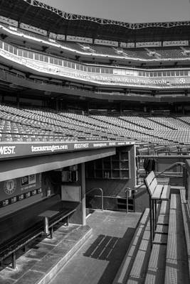 The Ballpark In Arlington Print by Ricky Barnard