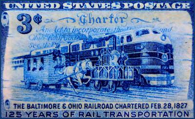 The Baltimore And Ohio Railroad Charter Stamp Art Print