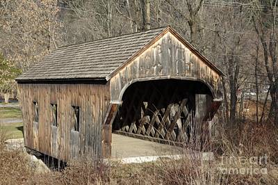 The Baltimore Covered Bridge - Springfield Vermont Usa Art Print by Erin Paul Donovan