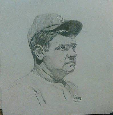 Babe Ruth Drawing - The Bambino by David Willingham